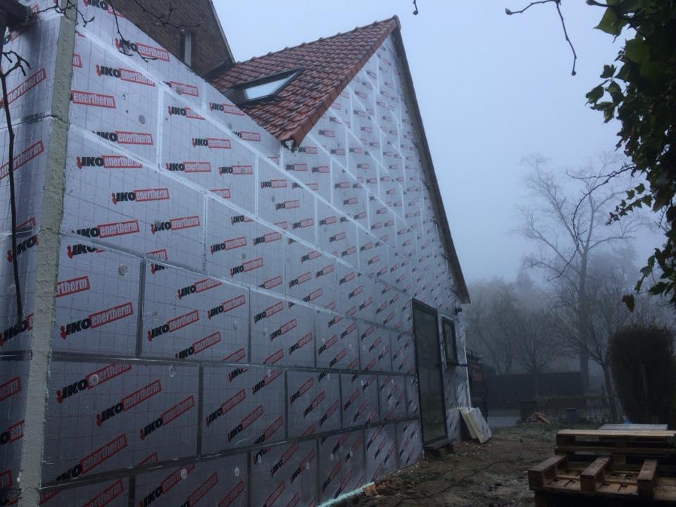 Isoleren buitenmuren - Renovatiewerken Margodt Roeselare