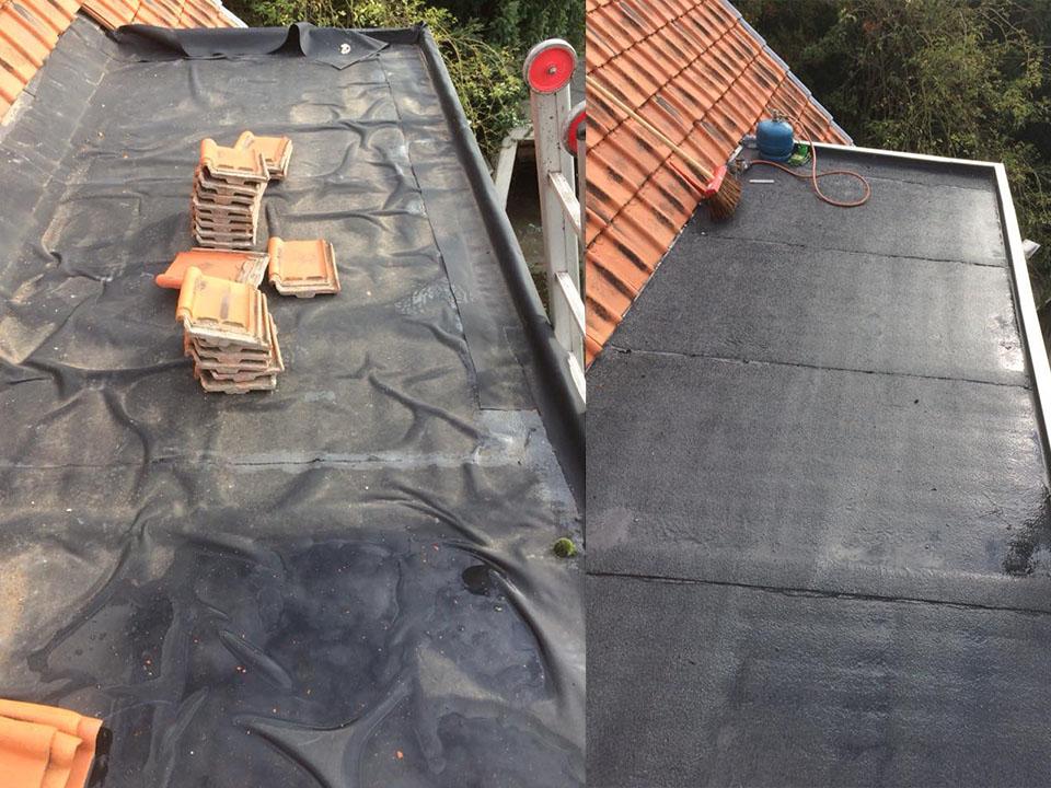 Renovatie plat dak - voor